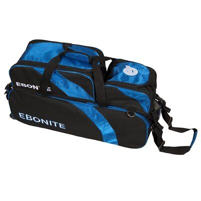 Ebonite Equinox Triple Ball Tote with Removable Pouch, Black/Royal