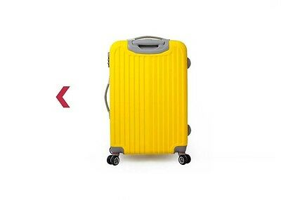 "28"" Yellow Height 71cm Coded Lock Universal Wheel ABS Travel Suitcase Luggage"