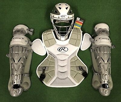 Rawlings Velo Youth Catchers Gear Set - White Silver