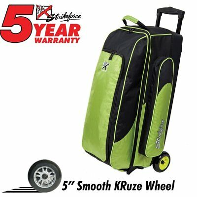 KR Cruiser Smooth Triple Roller Bowling Bag Lime