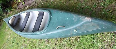 Canadian Canoe 3 seater, approx 14 ft, green