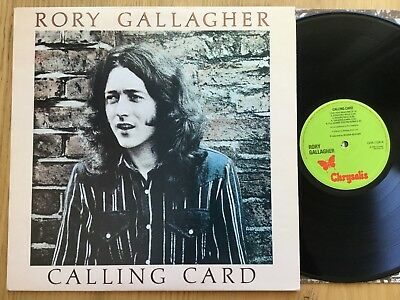 Rory Gallagher: Calling Card. Crysalis CHR 1124.  LP UK 1st Pressing