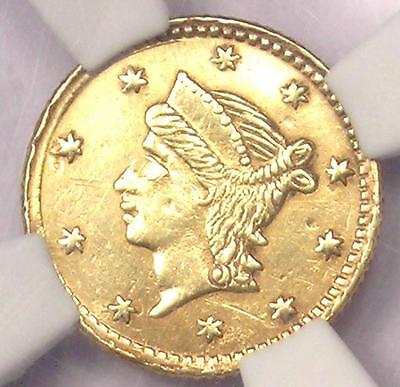 1855 Liberty 25C California Gold Quarter BG-227 R6. NGC AU Details - Rarity-6!