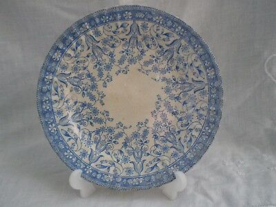 Methven Pottery Daisy pattern Plate 7.75 Inches across Blue & White