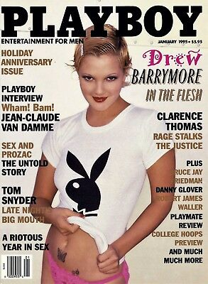 Playboy Us 01/1995 Drew Barrymore/playboy's Playmate Review