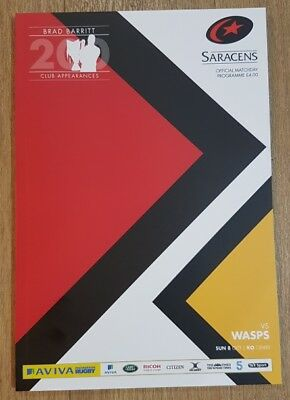 Saracens v Wasps official matchday programme