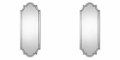 """Two Large 64"""" Wall Mirror Beveled Antiqued Mirror Frame Vintage Modern Uttermost"""