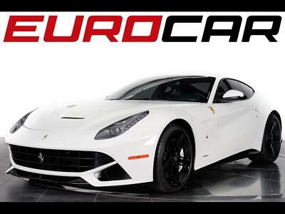 2014 Ferrari Other Base Coupe 2-Door 2014 Ferrari F12 Berlinetta - STUNNING WHITE OVER BLACK, CARBON FIBER INTERIOR