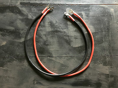 LOT DE 2 CABLES DE BATTERIE SOUPLE NOIR ET ROUGE Ø 25 mm2 124A 4 COSSES Ø 6MM
