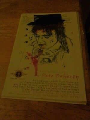 Pete Doherty Rare Flyer By Pete Doherty Flyer From Bournemouth 2008 Pete Doherty
