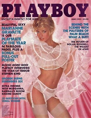 Playboy Us 06/1983 Marianne Gravatte Playmate Of The Year + Poster
