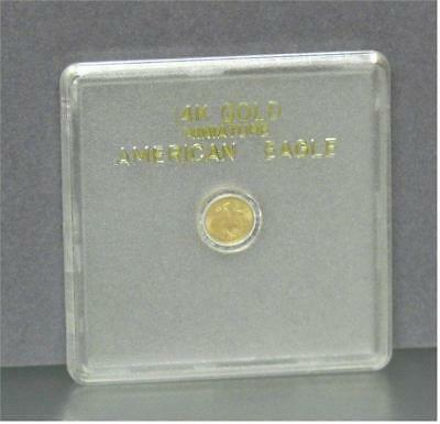 Gold Coin American Eagle Miniature Coin  sealed case 14k gold