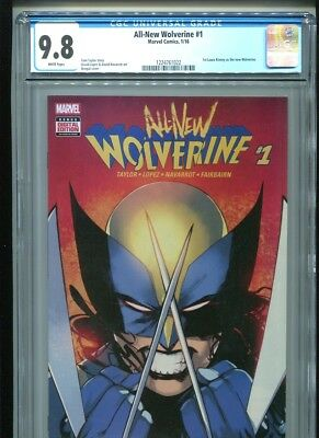 All New Wolverine #1 (2016) CGC 9.8 WHITE pages (1st print) Laura Kinney X-23