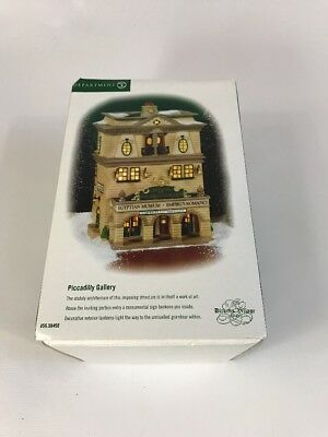 """Department 56 Dickens Village Series """"Piccadilly Gallery"""" MIB"""