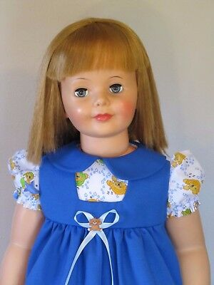 "Pretty Dress & Pinafore Set For 35"" Patti Playpal Doll Clothes"