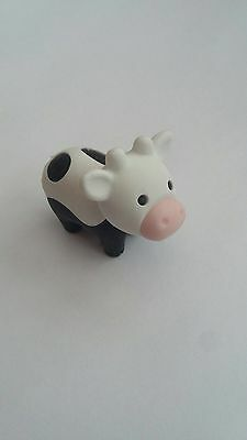 Iwako Genuine Japan Black And White Cow  Eraser Puzzle Animal Party Bag Novelty