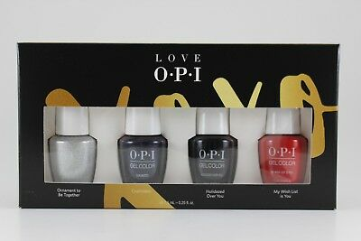 HPJ43 - OPI LOVE XoXo GelColor 4pc Pack 7.5mL - Holiday 2017