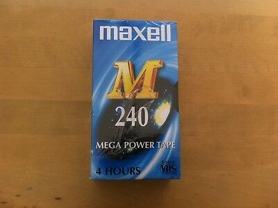 Maxell vhs blank tapes new and sealed