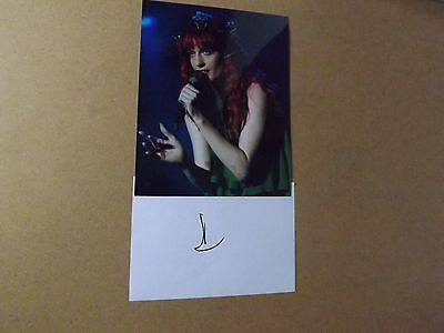 Florence Welch 'Florence & the Machine' signed - COA