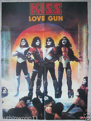 Poster   Kiss  Love Gun    In Extremo  Pin Up   A1
