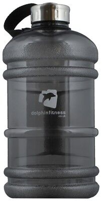 Dolphin Fitness Water Jug Black with Handle