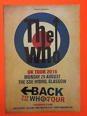 Cancelled Mint The Who Live In Concert 2016 Uk Concert Flyer