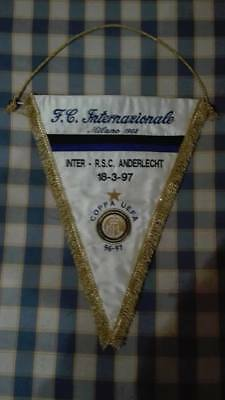 Official Match Pennant Inter Milano - Rsc Anderlecht Uefa Cup 1996 - 1997