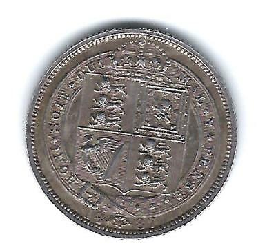 1887 Victoria sixpence, withdrawn type, HIGH GRADE!