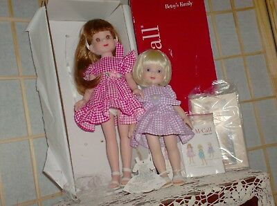 """TWO BETSY McCALL sisters by Robert Tonner  14""""&10"""" 1998  by Gruner & Jahr ex"""