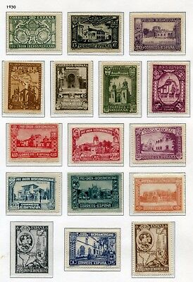 SPAIN   -  Small collection MH (1 stamp cancelled)