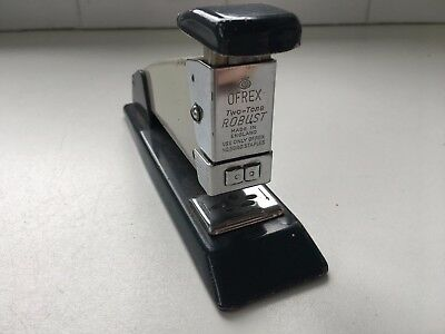 Vintage Industrial Chrome Ofrex Two-Tone Robust Stapler - Made in England