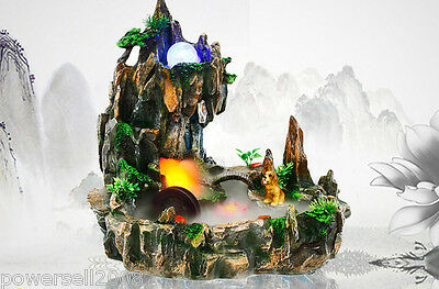Rural Style Home Decorative Craft Gift Rockery Flowing Water Fountain