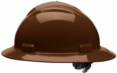 Bullard Full Brim Hard Hat with 4 Point Ratchet Suspension, Brown