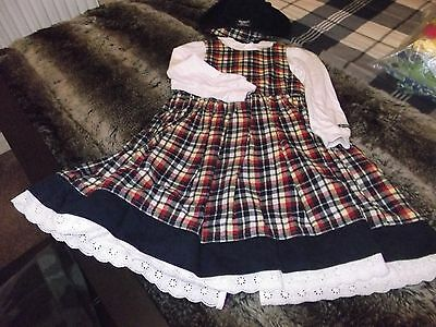 oshkosh vintage 3 piece outfit, age 4, dress,hat and blouse.