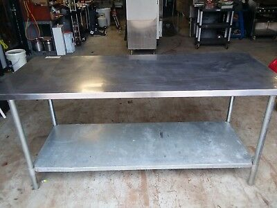"Stainless Steel 72"" X 30"" Commercial Table"