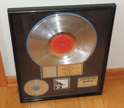 Platinum Record Certified Sales Award Bruce Springsteen Born to Run RIAA