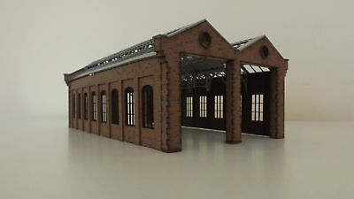 Brand NEW Modelux OO Victorian Double Road Engine Shed Flat Pack Kit