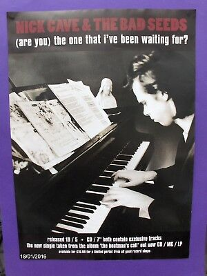 Nick Cave ORIGINAL 1997 PROMO POSTER Are You The One That I've Been Waiting For