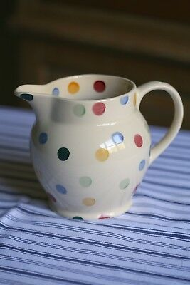 Emma Bridgewater earthenware spotty polka dot china 1 litre jug