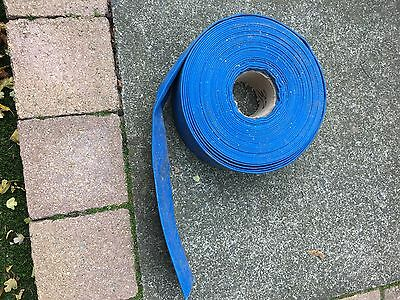 """2"""" Layflat PVC Water Delivery Hose - Discharge Pipe Pump Lay Flat Irrigation"""