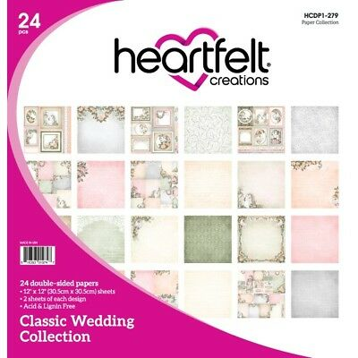 Heartfelt Creations Double Sided Paper pk - Classic Wedding Collection HCDP1 279