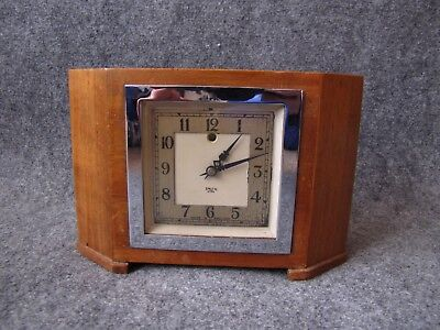 Smith Sectric Art Deco Electric Mantel Clock