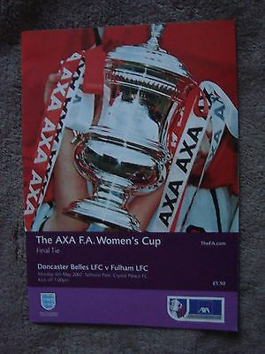 Women's Fa Cup Final - Doncaster Belles V Fulham (6 May 2002)