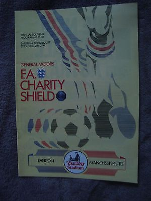 1985 Charity Shield - Everton V Manchester United