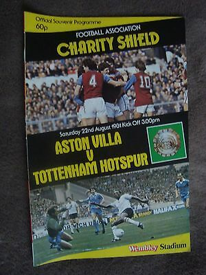1981 Charity Shield - Aston Villa V Tottenham Hotspur (Wembley Stadium)
