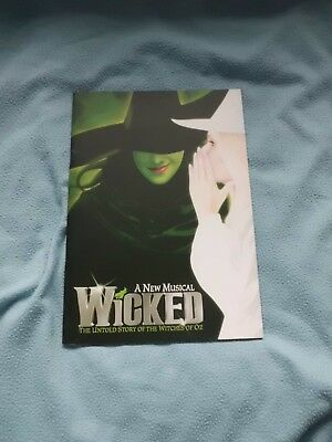 A New Musical Wicked programme