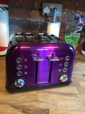 Morphy Richards 4 slice Purple Toaster Excellent Condition