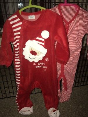 Christmas Sleepsuits Next Etc 9-12 Months- Excellent Condition