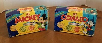 Vintage Les Mickey Mouse And Donald Duck Pasta Boxes Disney Advertising French