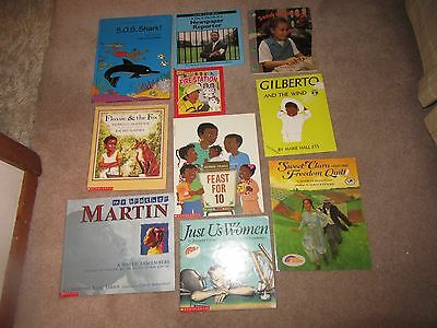 Lot of 10 African American Picture Books Feast For 10 Martin Luther King Flossie